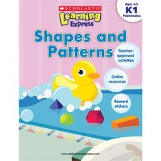 Scholastic Learning Express K1: Shapes and Patterns 学乐学习列车系列练习册K1:形状和图案(Ages 4-5)ISBN 9789810713522/Scholastic
